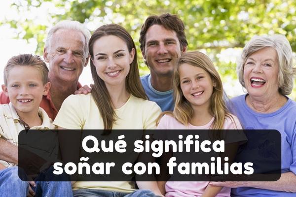 significado soñar con familia