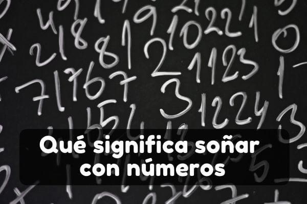 Ver fechas y números en sueños