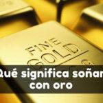 Ver oro en sueños
