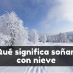 soñar con nieve significado
